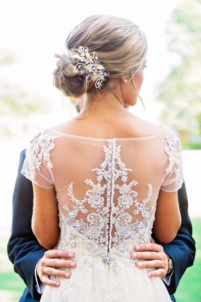 Dress detail of couple.