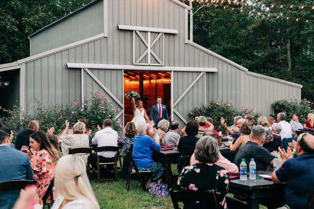 Wedding Reception at McIntosh Barn in KY.