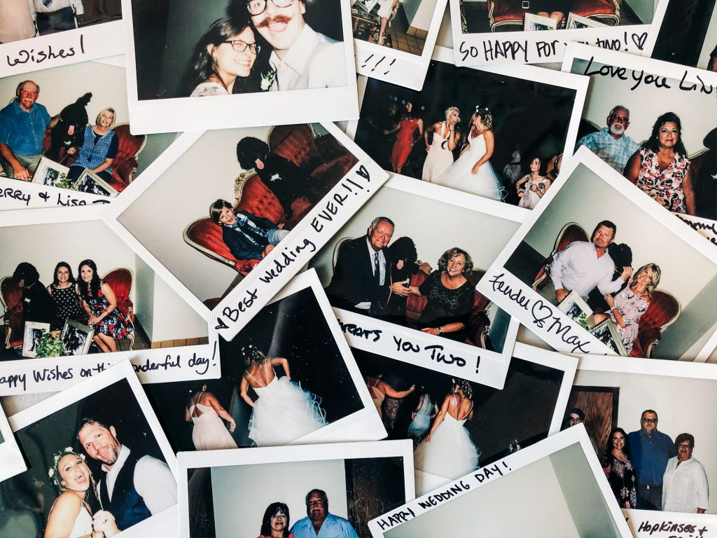 wedding polaroid photo guest book